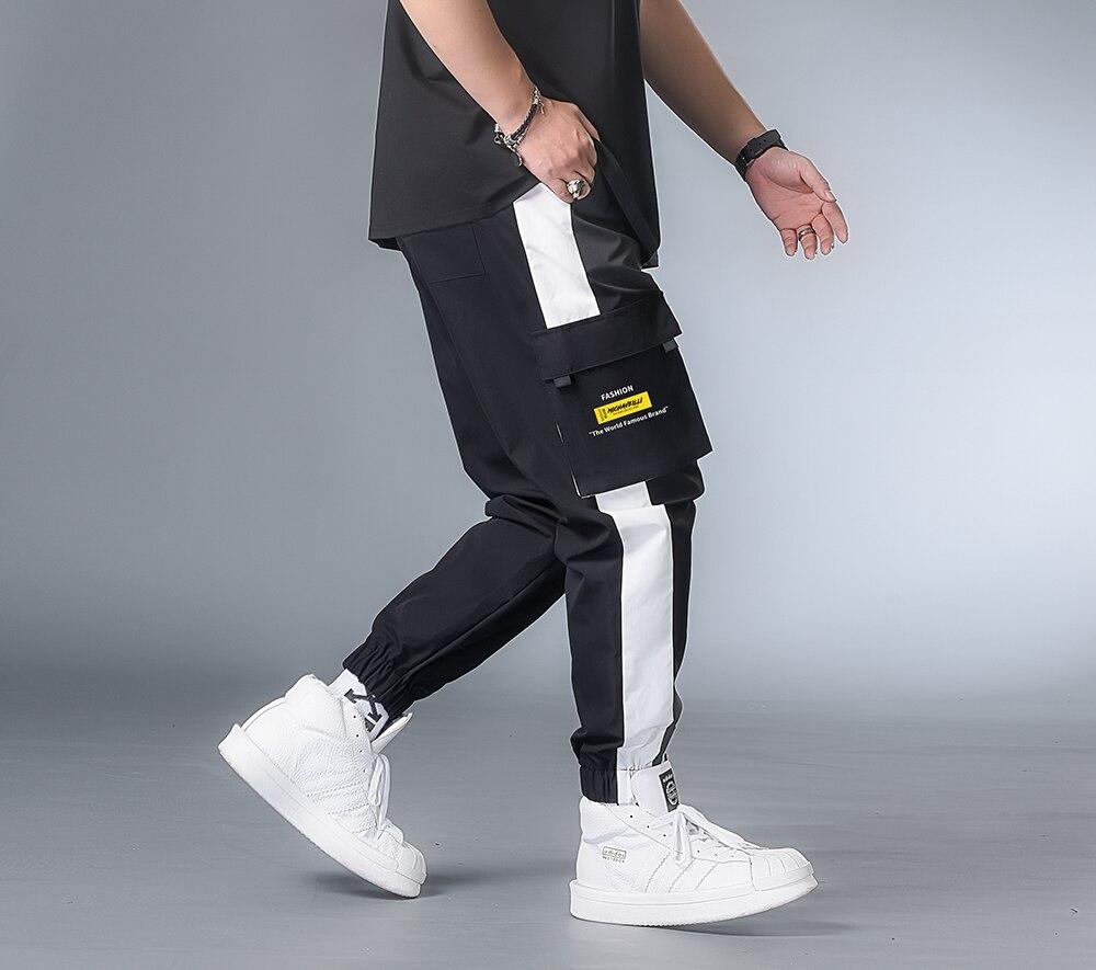 7XL 6XL XXXXL Men Streetwear Cargo Pants 2020 Clothing Man Color Block Harem Pants Male Hip Hop Spring Joggers Pants Sweatpants