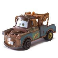 лучшая цена Hot sale Cars Disney Pixar Cars 2 3 Mater 1:55 Diecast Metal Alloy Model Car Birthday Gift Educational Toys For Children Boys