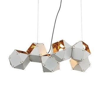 led e14 Nordic Iron Stone Black White Designer Pendant Lights.Pendant Lamp.Pendant light Suspension Luminaire For Dinning Room