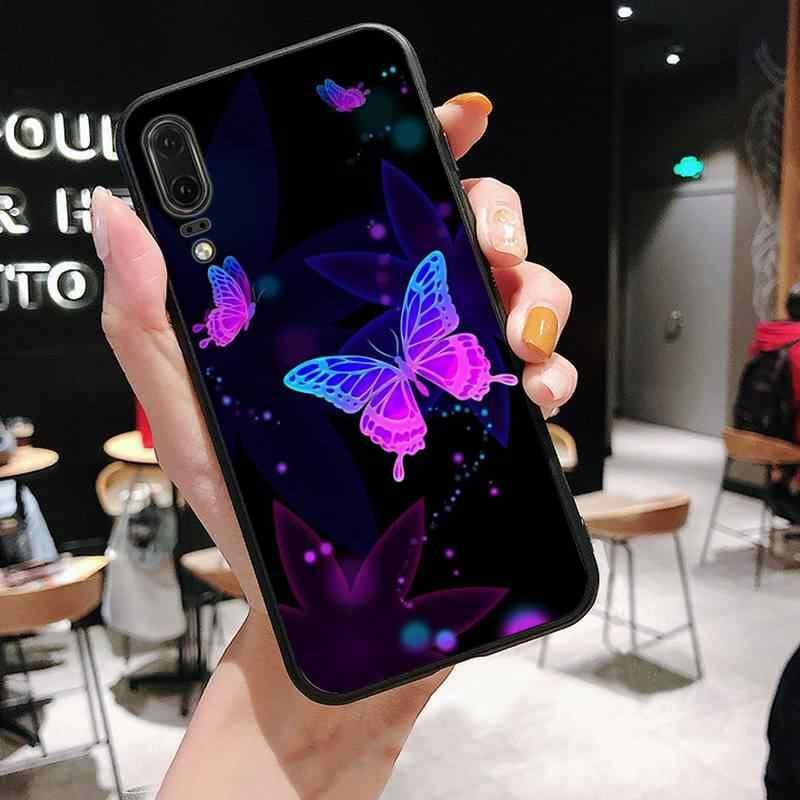 Variopinta del fiore di farfalla Della Copertura Della Cassa Del Telefono Per Huawei P9 P10 P20 Borsette P30 Pro Lite smart Mate 10 Lite 20 y5 Y6 Y7 2018 2019