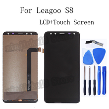 5.72 inch Original For Leagoo S8 LCD Display+Touch screen digitizer Accessories replacement For Leagoo S8 Repair kit Free Tools