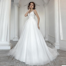 Verngo A-Line Wedding Dress Lace Appliques Gowns Sleeveless Bride Elegant Boho Trouwjurk