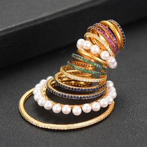 Image 5 - GODKI 1PC Famous Design Ear Bone Cuff Earring For Women Full Mirco Paved Micro Zircon Wedding Earring Fashion Jewelry 2020
