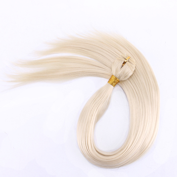 FSR 100 gram/pcs 613# Straight Hair Weaving 14-30 Inch Synthetic Hair Extensions double weft hair Bundles 4