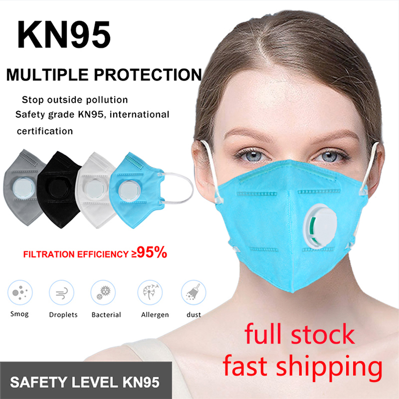 KN95  Mask Protective Anti-Dust Mouth Masks Face  2.5 Respirator Mask Protection KN95 Anti Fog Gas Flu In Stock