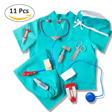 Doctor Clothes Pretend Play Costume Professional Doctor Assembly Decoration Doctor Play Props Children Play House Role Play Toys