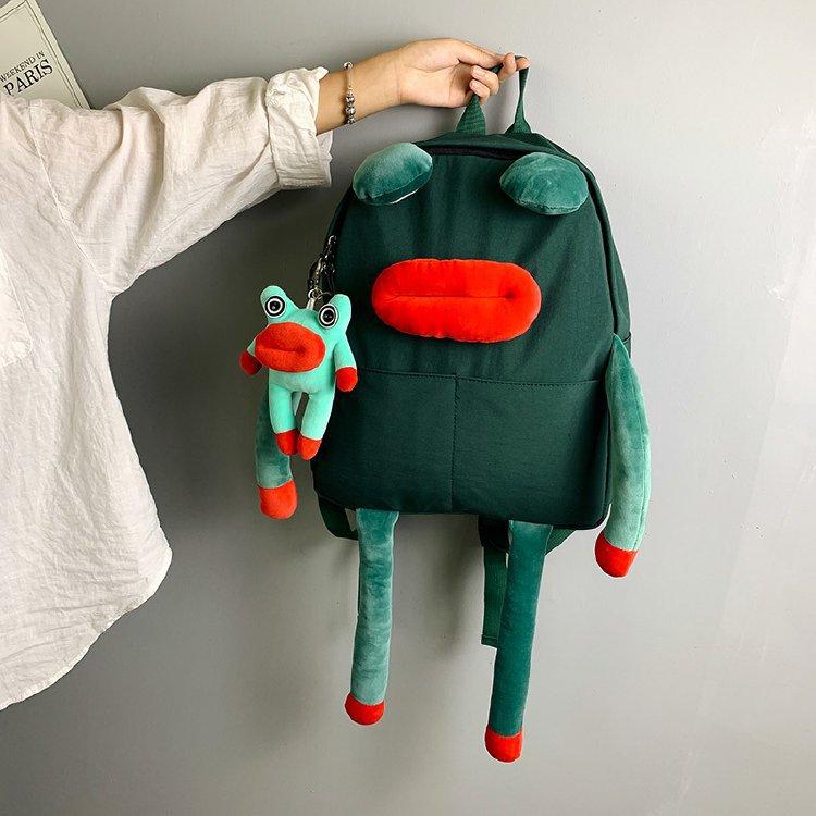 Animal Cartoon Frog Backpack Women Multifunction Students School Bag For Boys Girls Creative Fashion Cute Oxford Cloth Backpacks