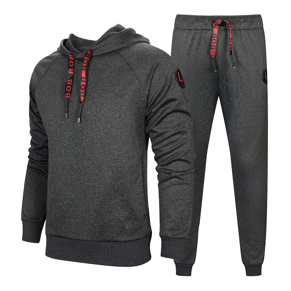 Tracksuit Men 2019 Autumn Sportwear Fashion Mens Hip Hop Set 2PC Zipper Hooded Sweatshirt Jacket+Pant Suit