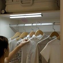 Pir sensor de movimento led sob a luz do armário auto ligar/desligar 6/10 leds 98/190mm para o armário do quarto da cozinha guarda-roupa luzes da noite