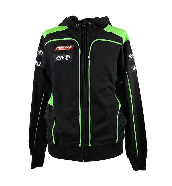 Free Shipping Moto Gp Motorcycle ATV Bike Off-road Sweater For Kawasaki Motocard Team Black/Green Zip Up Hoodie Fleece