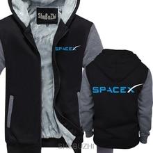 SPACEX SPACE X SPACE X ELON MUSK FAN przestrzeń nauka bluza z kapturem i LOGO FALCON mężczyźni grube bluzy ciepły płaszcz sbz4464