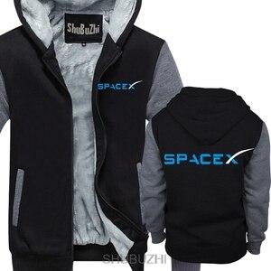 Image 1 - SPACEX พื้นที่ X SPACE X ELON MUSK พัดลมวิทยาศาสตร์โลโก้ hoodie FALCON Men hoodies หนาเสื้ออบอุ่น sbz4464
