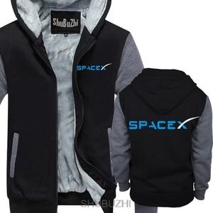 Image 1 - Spacex 社スペース × SPACE X エロンムスクファン宇宙科学ロゴパーカーファルコン男性厚いパーカー暖かいコート sbz4464