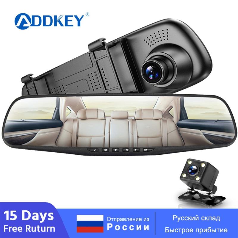 Автомобильный видеорегистратор ADDKEY, двойной объектив, зеркало заднего вида, Автомобильный видеорегистратор, регистратор в автомобильном видео, full hd, видеорегистратор, автомобильный видеорегистратор|Видеорегистраторы|   | АлиЭкспресс