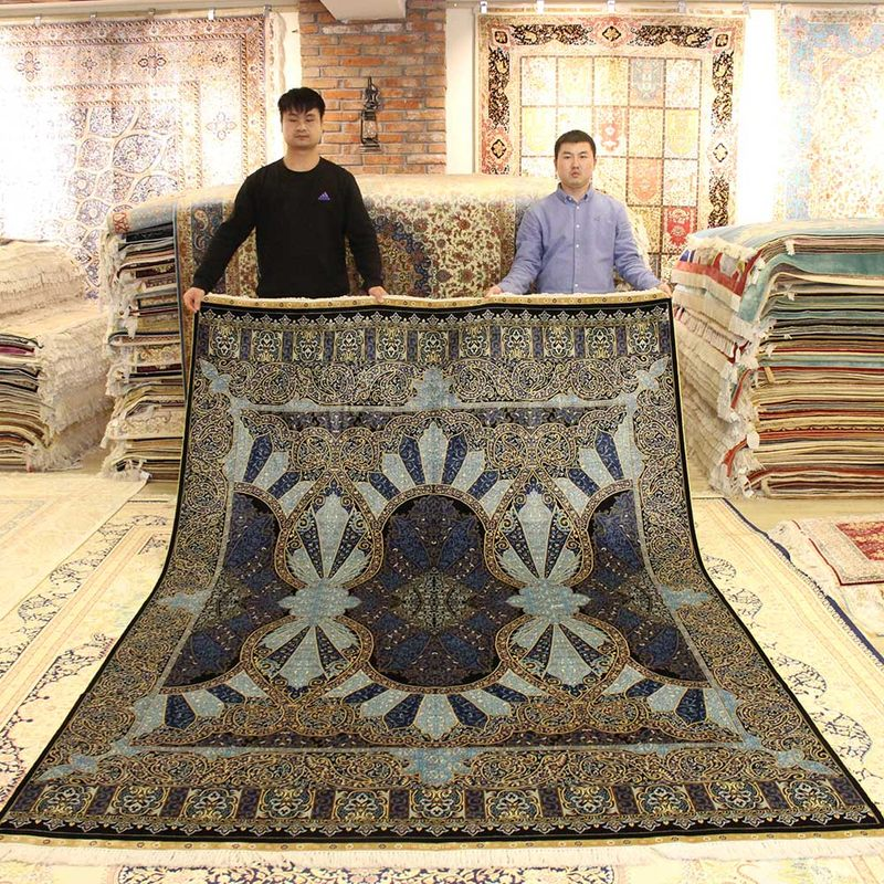 Handmade Persian Carpet Living Room Home High-End Luxury Bedroom Carpet Villa Sofa Coffee Table Rug Study Floor Mat Silk Rug