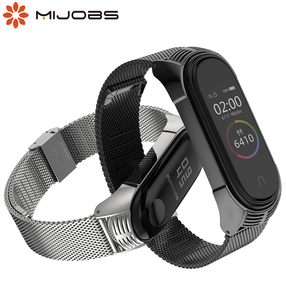 For Mi Band 4 Strap Metal Bracelet For Xiaomi Mi Band 3 Wristbands Milanese Wrist Straps For Miband 3 4 Correa Global Version