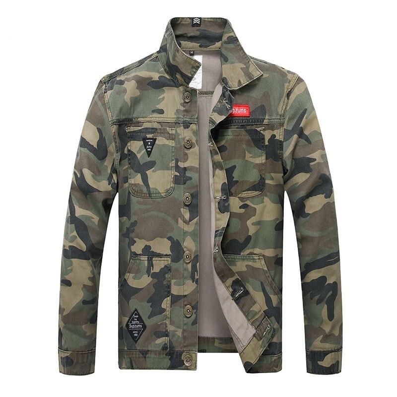 QNPQYX Новый Для мужчин джинсовая куртка с камуфляжным принтом Slim Fit с камуфляжным принтом джинсовые куртки для мужчин куртка водителя грузови...