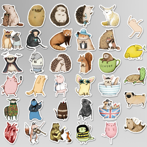 Image 3 - 73 Pcs 귀여운 레이블 애니메이션 스티커 일기 수제 접착 종이 찌질 일본 스티커 Scrapbooking 편지지 스티커