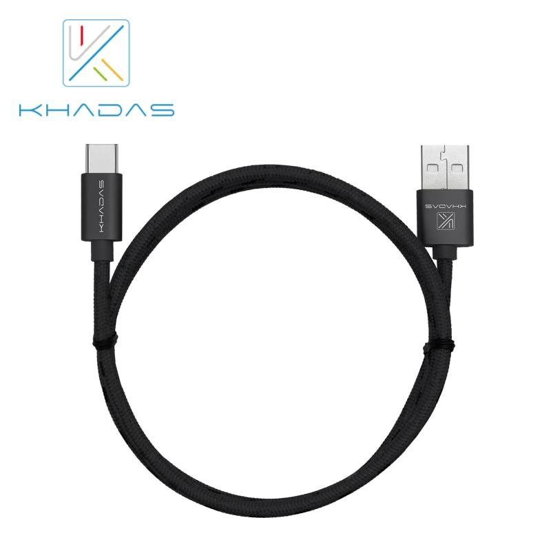 Khadas USB 2.0 Type-C Cable, 1.0 Meter Long, Aluminum Metal Case