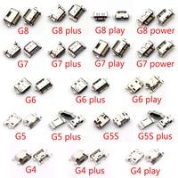 100 Uds para Motorola Moto G4 G5 G5S G5S G6 G7 más G8 G9 Plus Play tipo-C cargador USB conector de puerto de carga