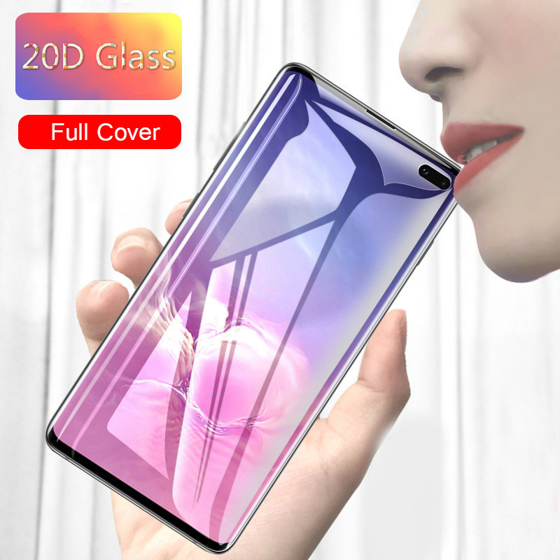 20D Curved Tempered Glass For Samsung Galaxy S8 S9 S10 Plus Note 10 9 8 Screen Protector For Samsung A50 A70 S10E Phone Glass