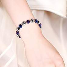 NJ High Quality Woman Beaded Bracelet Nature Lodestone Magnetic Ladies Friend Gift Charm Strand Jewelry