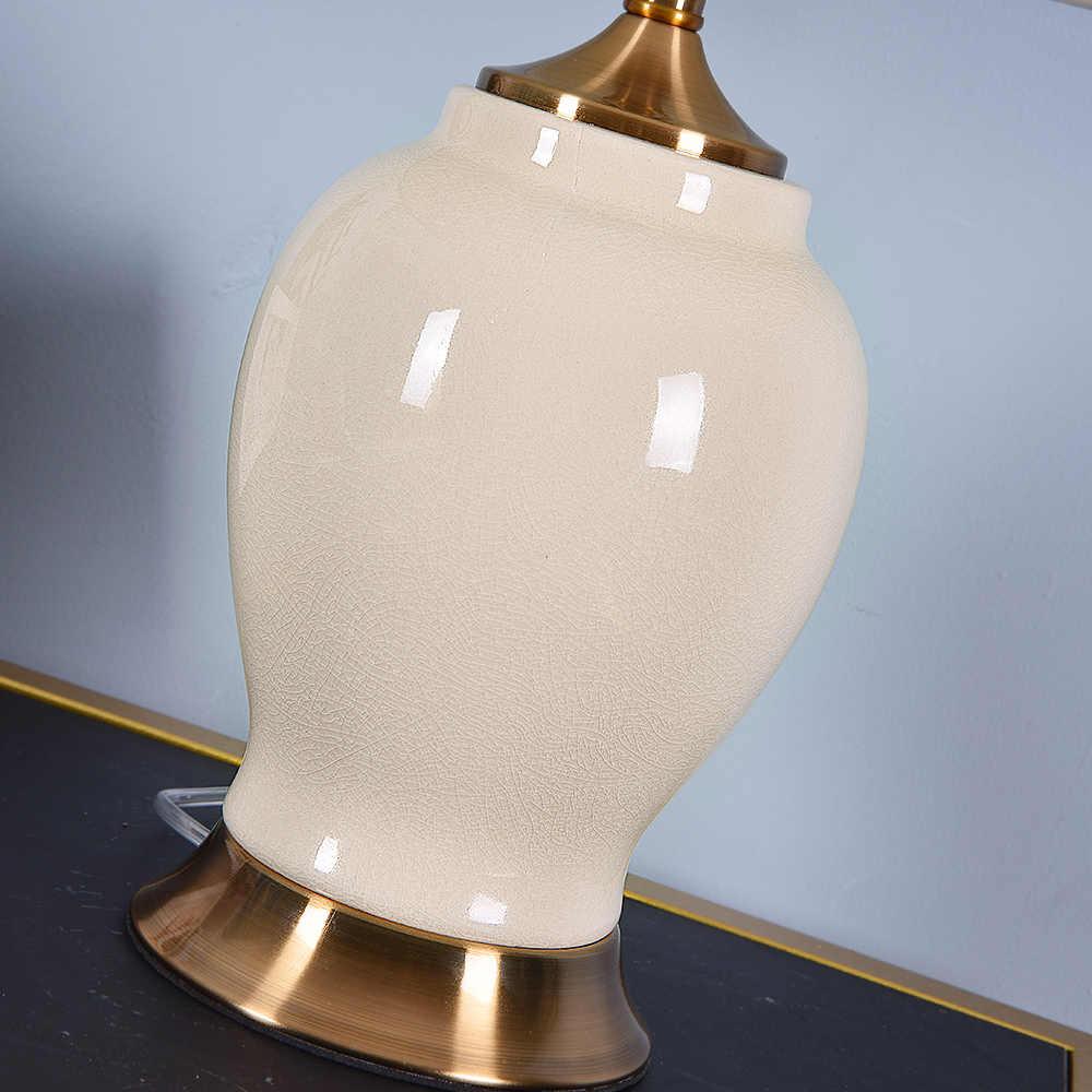 3 개 구매시 20% 할인 고급 세라믹 테이블 램프 침실 용 거실 용 침대 옆 램프 홈 인테리어 침실 램프 실내 조명 EU