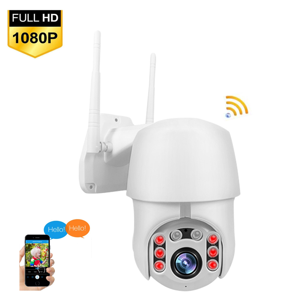 1080P PTZ IP Camera Wifi Outdoor Speed Dome Wireless Security Camera Pan Tilt 4X Digital Zoom 2MP Network CCTV Camera image