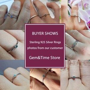 Image 4 - อัญมณี & Real 925 เงินสเตอร์ลิงแหวน Gree สีแดง Topaz แหวนพลอยหมั้นแหวนเงิน 925 anillos Mujer