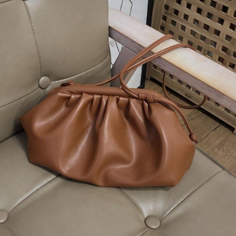 Новинка 2020, сумка, дневной клатч, сумочка-конверт для вечеринки, Женская подушка, кожаная сумка на плечо, летняя сумка, белый, черный, коричне...