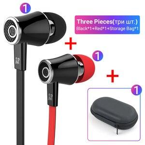 Image 4 - Langsdom Mijiaer JM21 3.5mm kulaklık kablolu kulaklık 2 adet 1 adet fermuarlı saklama çantası için en iyi maç taşıma dışında