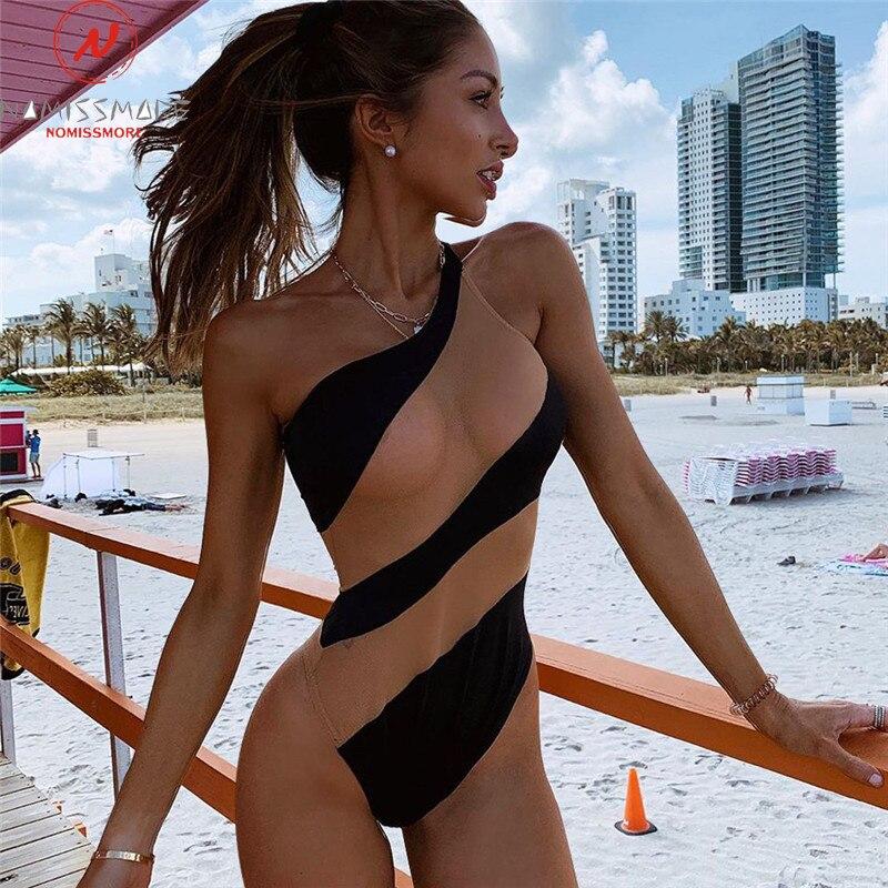 Сексуальные женские летние боди, сетчатые Лоскутные цветные облегающие боди на одно плечо без рукавов с открытой спиной