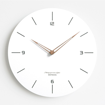 Nordic Wall Clock Wood Quartz Silent Antique Simple Wall Design Digital Living Room Clock Modern Zegar Scienny Classic Decor EE5