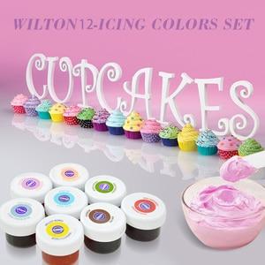 Image 3 - Lebensmittel Farbe 12 Stück Gel Basis Lebensmittel Färbung Additiv für Icing Fondant Kuchen Teig Kuchen Farbe Werkzeuge