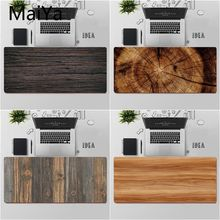 Maiya Top Quality Brown Wood grain Gaming Player desk laptop Rubber Mouse Mat Free Shipping Large Mouse Pad Keyboards Mat