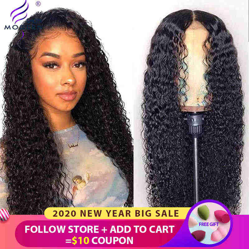 Modern Show Hair 13*4 13*6 Brazilian Curly Lace Front Human Hair Wigs Pre Plucked 150% Density Front Lace Wigs High Ratio Remy