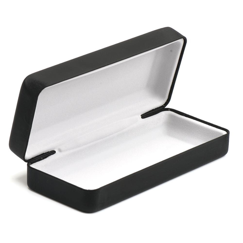 004 High-grade Black Square Iron Case For Glasses Brushed Black Cortex Customizable Logo On Case Box