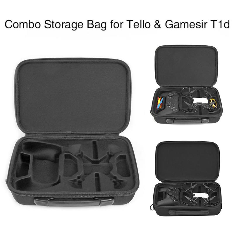ALLOET Portable Carrying Case Storage Bag With Shoulder Strap For DJI Tello Drone Gamesir T1d Remote Controller Waterproof Bag