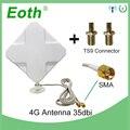 3g 4G антенна 35dBi кабелем 2м LTE Антенна 2 * SMA разъем для 4G модем роутер + адаптер гнездо SMA TS9 Штекерный соединитель