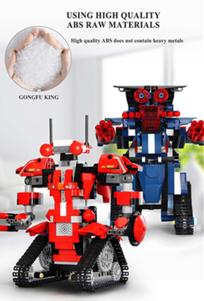 Robot Builder DIY Assemble Robot APP Dual Mode Wireless Remote Control Toy Building Blocks Children Focus Set Holiday Gift