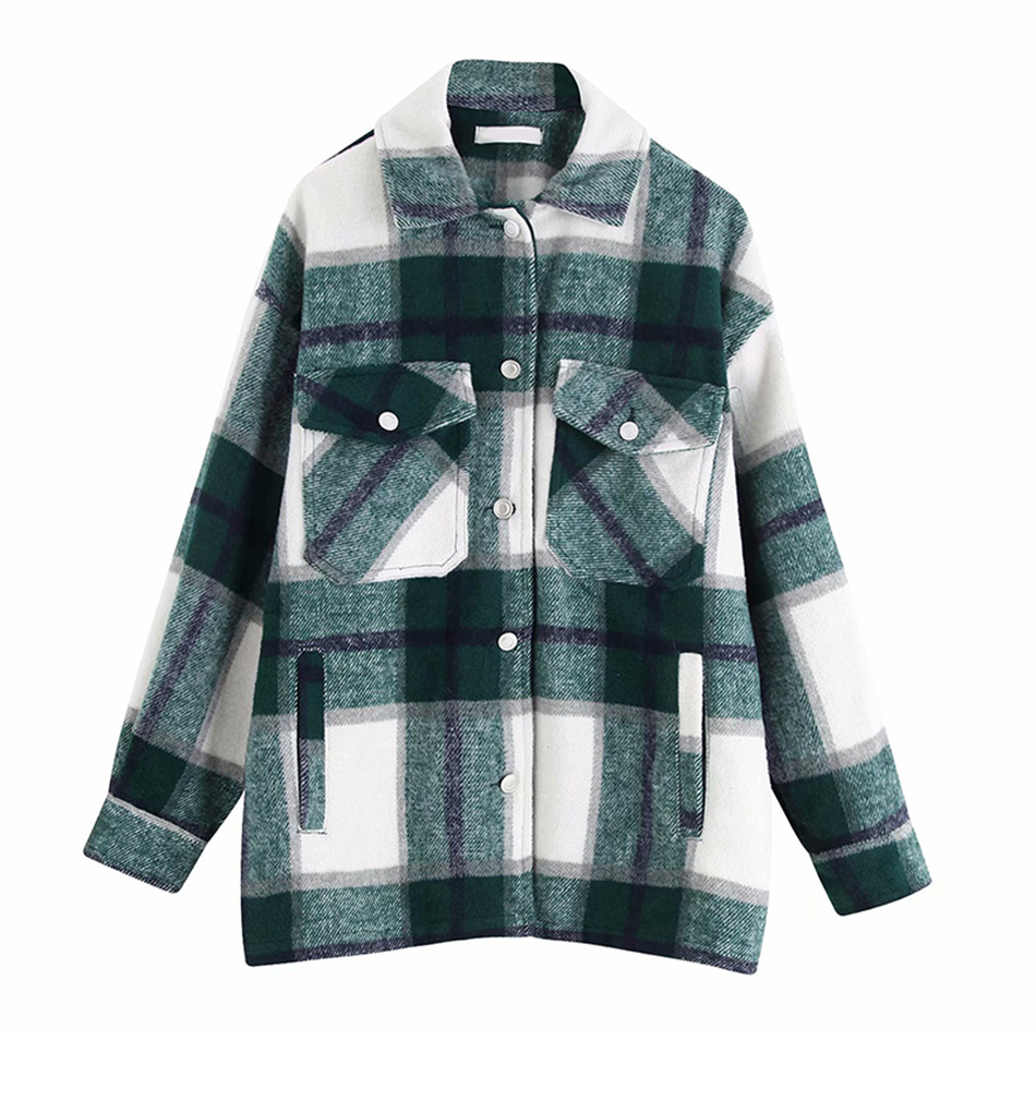 Davidyue Spring Fashion Blue Plaid Blouse Women Loose Shirt Casual Long Sleeve Office Women Shirts 2020 Women Topa And Blouse