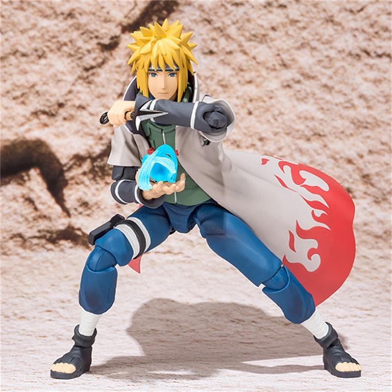 SHF Naruto Shippuden Namikaze Minato Action Figure PVC Minato Namikaze Figure Collectible Model Toy 14cm
