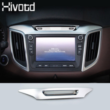 Hivotd For hyundai creta ix25 accessories Central control trim cover chrome decoration car styling interior mouldings products