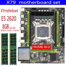 Qiyida X79 набор материнских плат с LGA2011 Combos Xeon E5 2620 CPU 2шт x 4 ГБ = 8 Гб памяти DDR3 RAM 1333Mhz PC3 10600R RAM