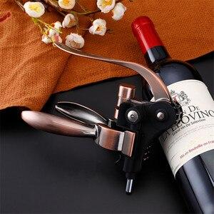 Image 2 - Professionele Zinklegering Wijn Opener Lever Arm Staal Konijn Kurkentrekker Wijn Flesopener Tool Cork Dropshipping