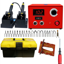 Wood Burning Soldering Irons Crafts Tools 25W AC 110V/220V STC T12 Digital Pyrography Pen Machine Kit Set US/EU/UK/AU Plug