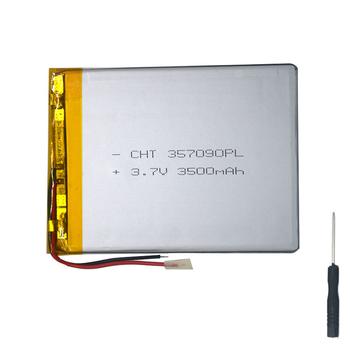 Akumulator 2 drut 3 7v 3500mah 7 Cal Tablet uniwersalna bateria litowo-polimerowa do DEXP Ursus KX270 + narzędzie śrubokręt tanie i dobre opinie NoEnName_Null Battery 1000-3500mAh 357590 high quality A++ tool accessories screwdriver