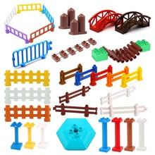 Big Size Building Blocks House Structure Parts Pillar Fence Bridge Column Assemble Bricks Educational Toys For Children Gift