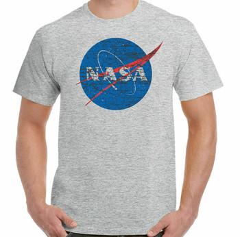 Koszulka Nasa mężczyźni Geek Nerd teoria wielkiego podrywu Retro przestrzeń Sheldon Cooper tanie i dobre opinie Podróż TR (pochodzenie) Cztery pory roku Z okrągłym kołnierzykiem SHORT normal COTTON Na co dzień Znak