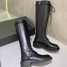Женские ботинки lanky женские толстые рыцарские Халаза с высокими